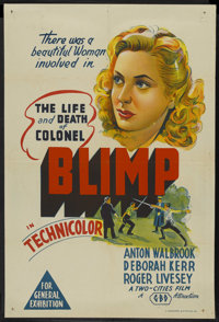 """The Life and Death of Colonel Blimp (General Film Distributors, 1943). Australian One Sheet (27"""" X 40""""). Drama..."""