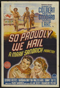 "Movie Posters:War, So Proudly We Hail (Paramount, 1943). Australian One Sheet (27"" X40""). War. ..."
