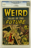 Golden Age (1938-1955):Horror, Weird Tales of the Future #1 (Aragon, 1952) CGC VG- 3.5 Off-whitepages....