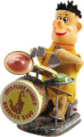 Toys:Miscellaneous, Fred Flintstone's Bedrock Band Battery-Operated Toy (Frankonia Toy, 1962)....