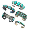 Estate Jewelry:Bracelets, Turquoise, Silver Bracelets. ... (Total: 0 Items)