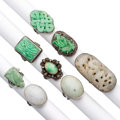 Estate Jewelry:Rings, Jadeite Jade, Diamond, Cultured Pearl, Silver, Silver-Topped GoldRings. ... (Total: 0 Items)