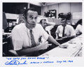 Autographs:Celebrities, Charlie Duke Signed Photo as Apollo 11 CapCom with Famous Words....
