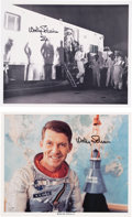 Autographs:Celebrities, Wally Schirra Signed Mercury-Atlas 8 (Sigma 7) Photos (Two).... (Total: 2 Items)