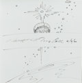 Explorers:Space Exploration, Robert McCall Signed Sketch in Book: The Art of RobertMcCall. ...