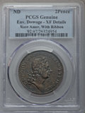 ROSA AMER 2PENCE Rosa Americana Twopence, Label -- Environmental Damage -- PCGS Genuine. XF Details. NGC Census: (0/3)...