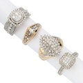Estate Jewelry:Rings, Diamond, Gold Rings. . ... (Total: 4 Items)