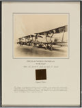 "Transportation:Aviation, Vintage Aviation Relic in Framed Display: Douglas World Cruiser #2""Chicago"", the Flag Plane of the First Round-the-World Flig..."