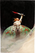 Original Comic Art:Covers, Frank Frazetta Bloodstone Paperback Novel Cover PaintingOriginal Art (Warner Books, 1976)....