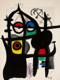 Prints:European Modern, Joan Miró (1893-1983). Le captive, 1969. Etching andaquatint in colors with carborundum on wove paper. 37 x 28-1/4inch...