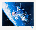 """Explorers:Space Exploration, Alexei Leonov Signed Limited Edition """"First Walk"""" Print, #474/500...."""