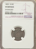 Early Half Dimes: , 1803 H10C Small 8 -- Damaged -- NGC Details. VF. PCGS Population:(0/11). CDN: $5,000 Whsle. Bid for pro...