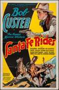 "Movie Posters:Western, Santa Fe Rides (Reliable, 1937). One Sheet (27"" X 41""). Western.. ..."