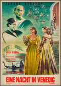 """Movie Posters:Foreign, A Night in Venice (Expressfilm, 1954). German A1 (23.25"""" X 33""""). Foreign.. ..."""