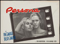 """Movie Posters:Foreign, Persona (United Artists, 1967). Belgian (14.25"""" X 21""""). Foreign.. ..."""