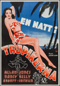 """Movie Posters:Comedy, One Night in the Tropics (Universal, 1941). Swedish One Sheet (27.5"""" X 39.5""""). Comedy.. ..."""