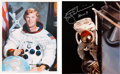 Autographs:Celebrities, Rusty Schweickart Signed White Spacesuit and Apollo 9 EVA ColorPhotos (Two). ... (Total: 2 Items)