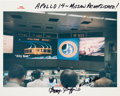 """Autographs:Celebrities, Apollo 14 Flight Directors: Original NASA """"Red Number"""" MissionControl Color Photo Signed by Griffin and Windler. ..."""