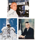 Autographs:Celebrities, Bruce McCandless Signed Color Photos (Three). ... (Total: 3 Items)