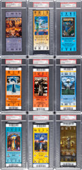 Football Collectibles:Tickets, 2000-2016 Super Bowl Full PSA Graded Tickets Lot of 9....