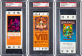 Football Collectibles:Tickets, 1973-77 Super Bowl Full PSA Graded Tickets Lot of 3....