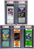 Football Collectibles:Tickets, 1976-2009 Super Bowl PSA Graded Full Tickets Lot of 5 - Steelers Championships. ...