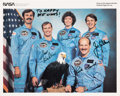 "Autographs:Celebrities, Space Shuttle Discovery (STS-51-A) Crew-Signed Color PhotoOriginally from the Collection of Walter ""Kappy"" Ka..."