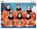 Autographs:Celebrities, Space Shuttle Columbia (STS-52) Crew-Signed Color Photo:Baker, Veach, Wetherbee, Jernigan, Shepherd, and MacLean....