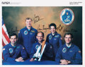 Autographs:Celebrities, Space Shuttle Atlantis (STS-30) Crew-Signed Color Photo:Grabe, Walker, Thagard, Cleave, and Lee. ...