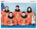 Autographs:Celebrities, Space Shuttle Discovery (STS-56) Crew-Signed Color Photo:Cockrell, Oswald, Foale, Cameron, and Ochoa. ...