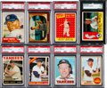 Baseball Cards:Lots, 1953 - 1968 Topps/Bowman Mickey Mantle Graded Collection (8). ...