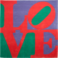 Post-War & Contemporary:Pop, Robert Indiana (b. 1928). Chosen Love, circa 1995. Skeindyed, hand carved and hand tufted archival New Zealand wool on ...