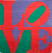 Robert Indiana (b. 1928) Chosen Love, circa 1995 Skein dyed, hand carved and hand tufted archival Ne