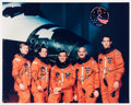 Autographs:Celebrities, Space Shuttle Discovery (STS-51) Crew-Signed Color Photo:Culbertson, Bursch, Walz, Readdy, and Newman....