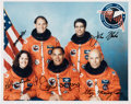 Autographs:Celebrities, Space Shuttle Discovery (STS-33) Crew-Signed Color Photo:Gregory, Blaha, Carter, Musgrave, and Thornton....