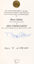 Autographs:Celebrities, Buzz Aldrin Signed Limited Edition Book (#198/1500): Men FromEarth. ...
