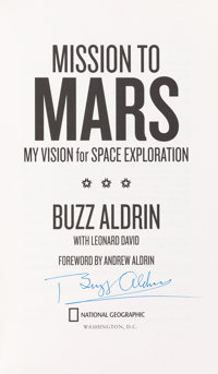 Buzz Aldrin Signed Book: Mission To Mars