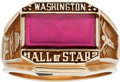 Football Collectibles:Others, 1970's Washington Hall of Stars Induction Ring Presented to Former Redskins Owner E.B. Williams....
