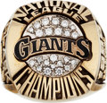 Baseball Collectibles:Others, 1989 San Francisco Giants National League Championship Salesman'sSample Ring....