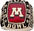 Football Collectibles:Others, 1999 Minnesota Golden Gophers Sun Bowl Ring....