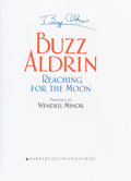 Autographs:Celebrities, Buzz Aldrin Signed Book: Reaching For The Moon. ...