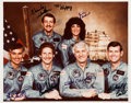 "Autographs:Celebrities, Space Shuttle Discovery (STS-41-D) Crew-Signed Color PhotoOriginally from the Collection of Walter ""Kappy"" Ka..."