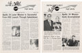 Explorers:Space Exploration, Edgar Mitchell Signed Spaceport News (Two Issues), DatedFebruary 11 & 25, 1971.... (Total: 2 Items)