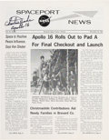 Explorers:Space Exploration, Charlie Duke Signed Spaceport News, Dated December 16, 1971....