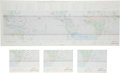 """Explorers:Space Exploration, Space Shuttle Mission Charts (Four): The Ill-Fated STS-51-L, the""""Return to Flight"""" STS-26, also STS-29 and STS-32. ... (Total: 4Items)"""