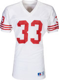 Football Collectibles:Uniforms, Late 1980's Roger Craig Signed Game Worn San Francisco 49ers Jersey....