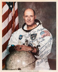Autographs:Celebrities, Tom Stafford Signed Apollo 10 White Spacesuit Color Photo. ...