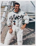 Autographs:Celebrities, Richard Gordon Signed White Spacesuit Color Photo. ...