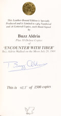 Autographs:Celebrities, Buzz Aldrin Signed Limited Edition Book (#425/1500): Encounter With Tiber....