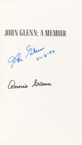 Autographs:Celebrities, John & Annie Glenn Signed Book: A Memoir. ...